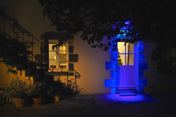 Mise en situation d'une lumière UV, ambiance onirique