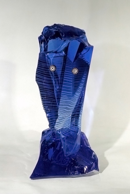 Verre Contemporain. L'Âme Bleue - Yves Braun