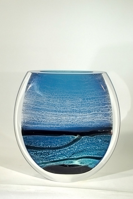 vase paysage bleu
