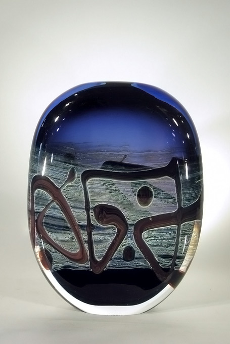 verre soufflé - pièce d'artiste