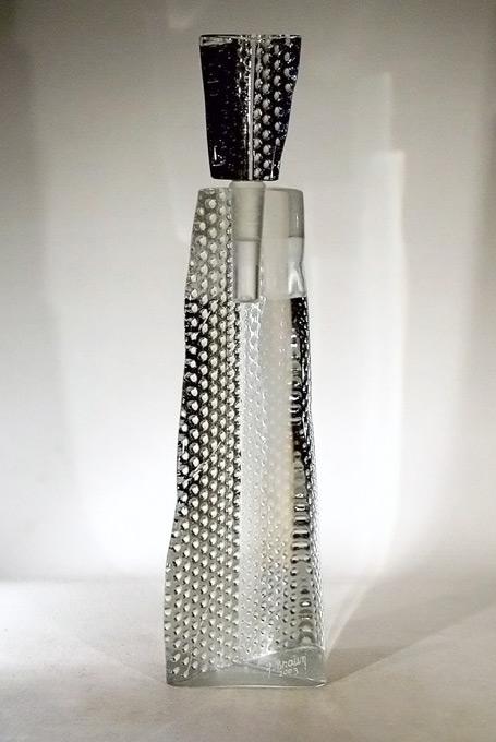 flacon d'artiste en verre -faux flacon - casting